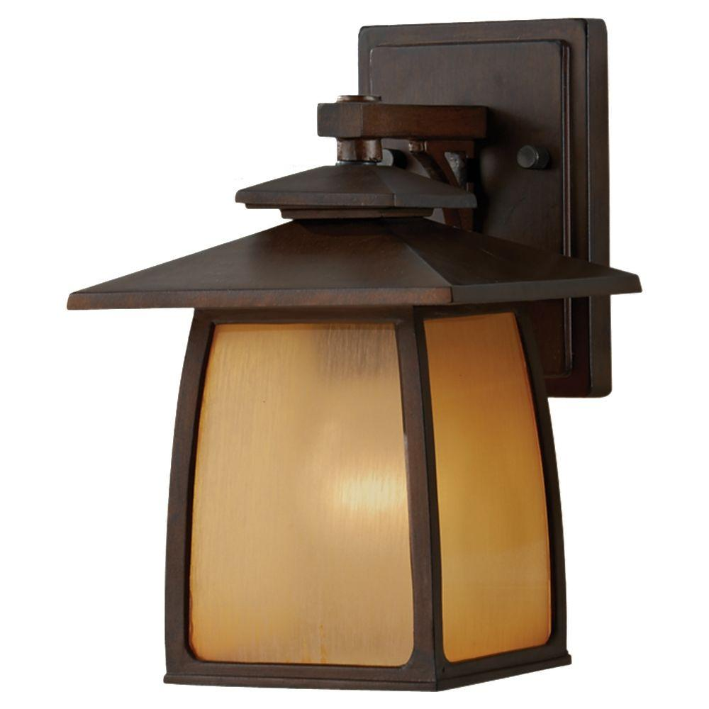 Wright house 1 light sorrel brown outdoor wall lantern outdoor wright house 1 light sorrel brown outdoor wall lantern mozeypictures Images