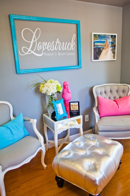 Love Struck Makeup And Beauty Lounge Waiting Area Design