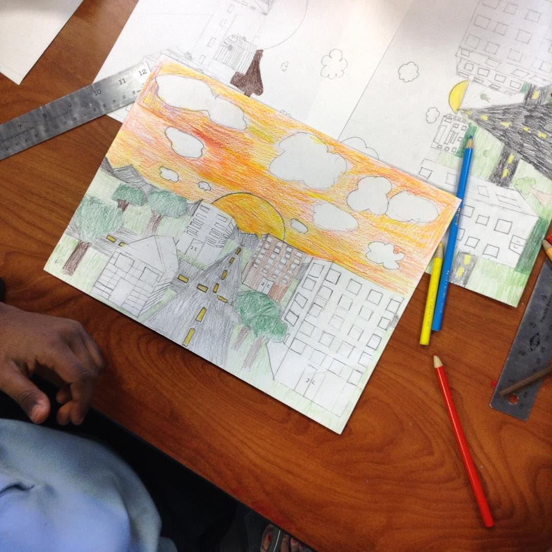 One Point Linear Perspective Project 5th Grade