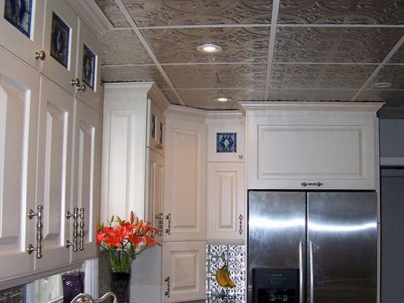 Metal Backsplash Kitchen Ceiling Tin Tiles Kitchen Design 2014