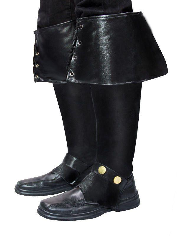 Piraten Stiefelstulpen Deluxe schwarz | Stiefel, Reitstiefel