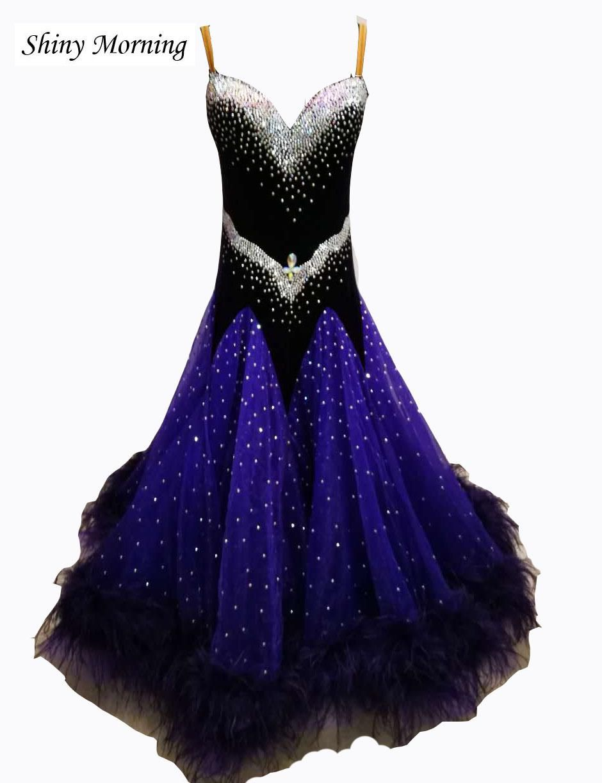 b9c74dd59ad0 Ballroom dress waltz modern dance dress ballroom dance competition dresses  dancing clothes tango dr black blue