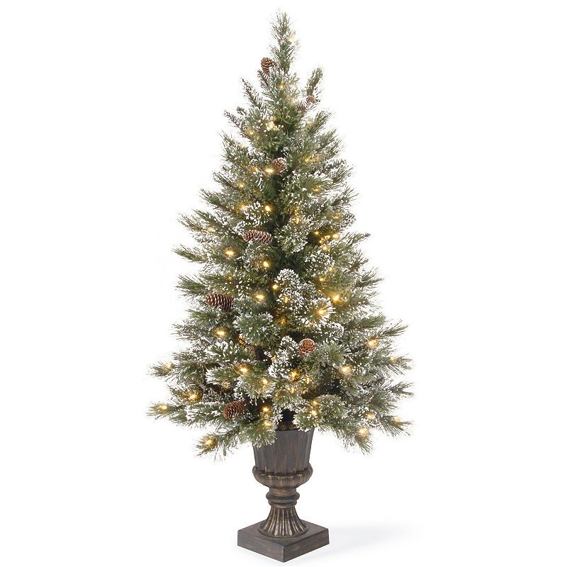 size 40 3d733 ff443 clear National Tree Company 4-ft. Pre-Lit Artificial Pine ...