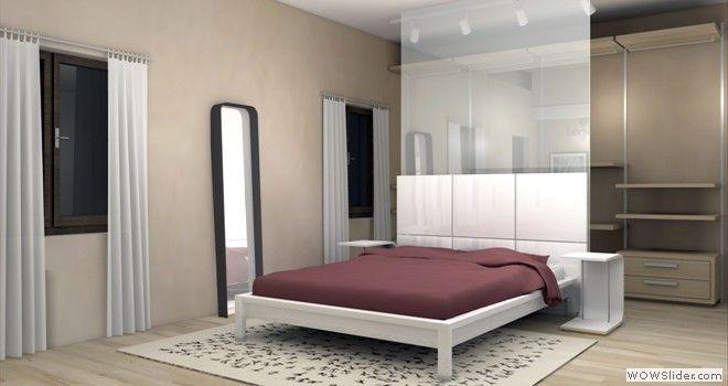Emejing camera con cabina armadio images acrylicgiftware - Cabina armadio dietro al letto ...