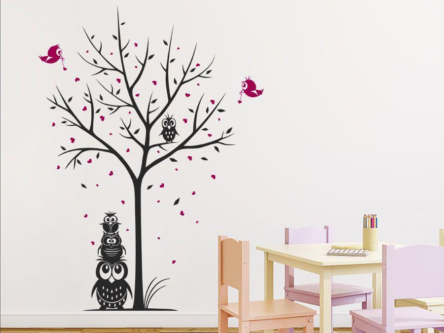 Fabulous Kreative Ideen mit Wandtattoo B umen uc F r Wohnung Kinderzimmer und Co Einfach Farben