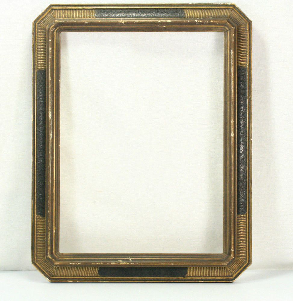 Art deco gilded and black wood frame 9 x 12 | Black wood, Art deco ...