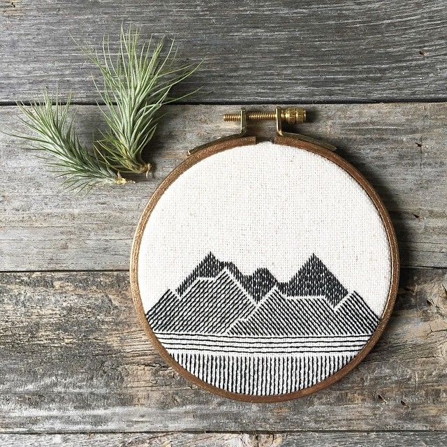 "Stephanie Lapre on Instagram: ""Another 4-inch mountainscape piece. My little collection is really coming along! """