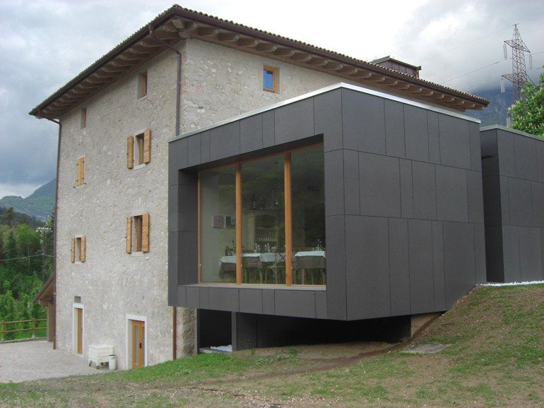 Roofing Panel And Sheet In Fibre Cement Swisspearl By Swisspearl Italia House Cladding Facade House Fiber Cement