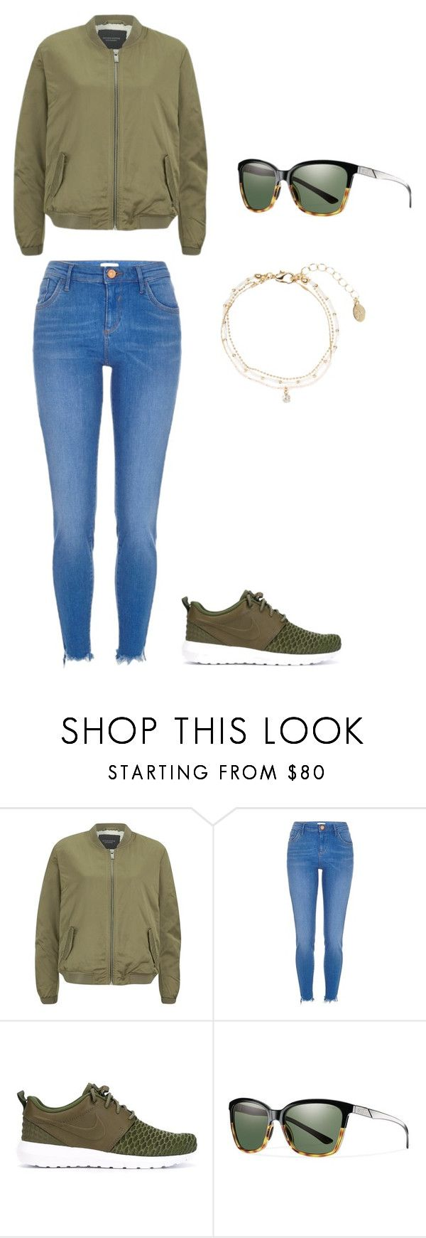 """Early"" by agdancer10 ❤ liked on Polyvore featuring Maison Scotch, River Island, NIKE and Accessorize"