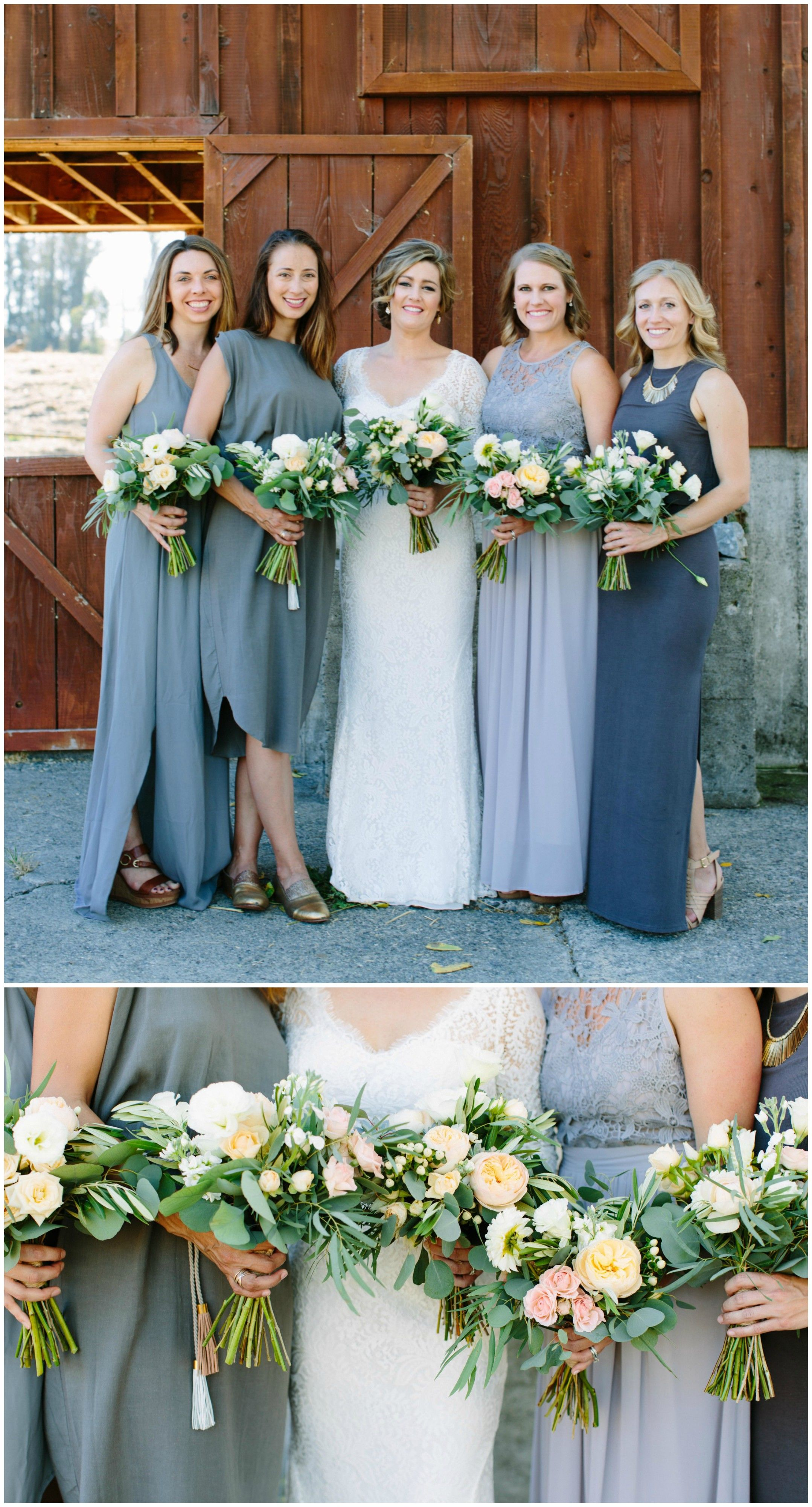 The Smarter Way to Wed | Charcoal grey bridesmaid dresses, Grey ...