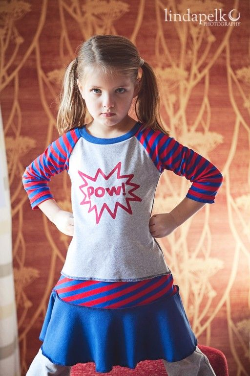 Super Hero In Training Little Girl Fashion Clothes Sewing Kids Clothes