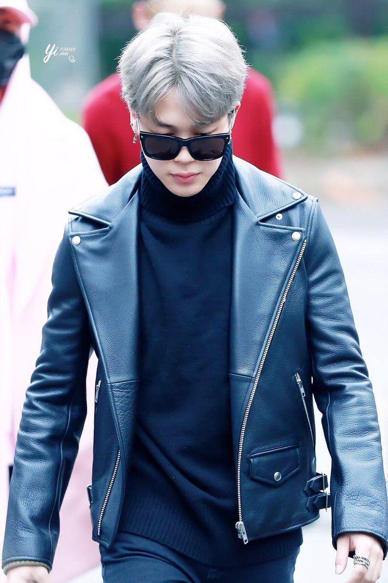 Jimin Pics On Twitter Leather Jacket Jimin Fashion [ 1200 x 799 Pixel ]