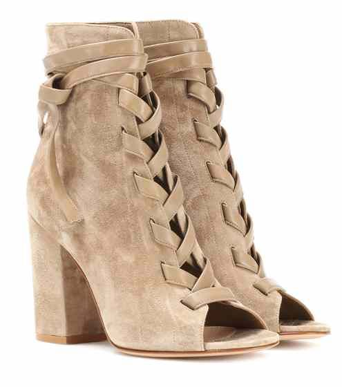 Gianvito Rossi Brooklyn open-toe suede ankle boots DW3V44