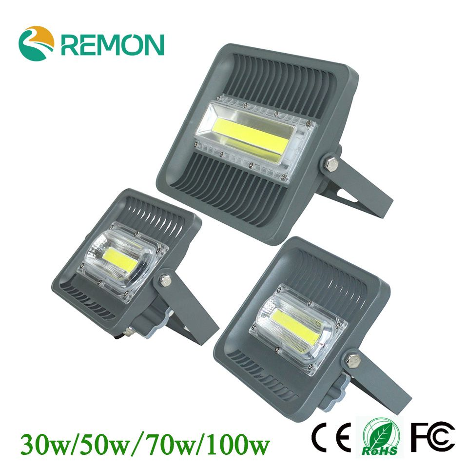 Waterproof Ip66 Led Floodlight 30w 50w 70w 100w 85 265v Warm Cool White Outdoor Lighting Led Super Brigh Outdoor Lighting Led Flood Lights Led Outdoor Lighting