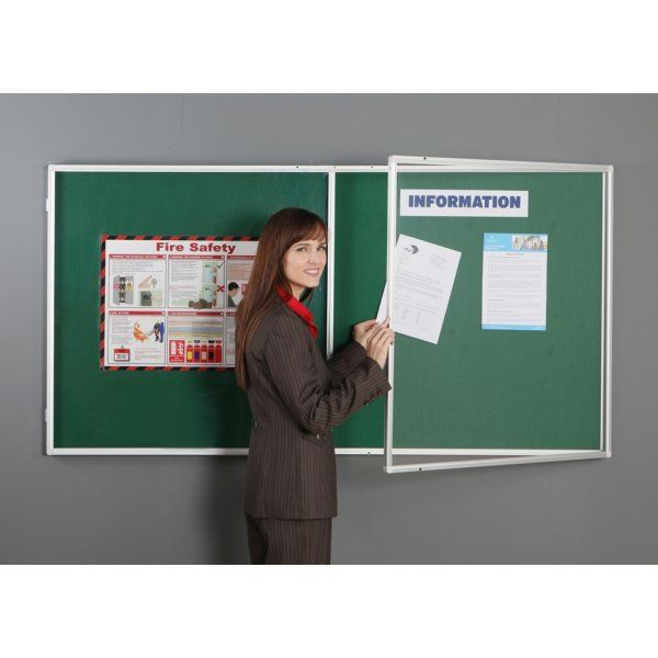 quality cabinets fireproof lockable notice board 2 door from panel 25026