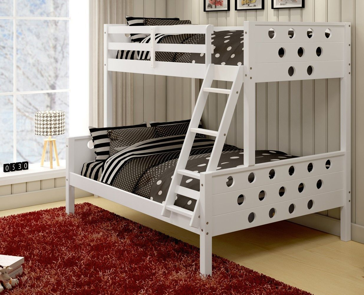 Loft bed with desk and trundle  Twin over Full Bunkbeds for Kids  Kinderzimmer  Pinterest  Twins
