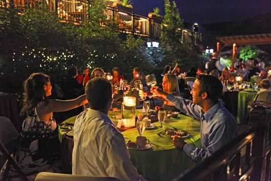 Rehearsal Dinner On A Summer S Night At The Golden Hotel In Colorado