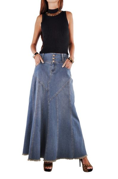 purpngreen.com long-blue-jean-skirts-12 #skirts | Dresses & Skirts ...