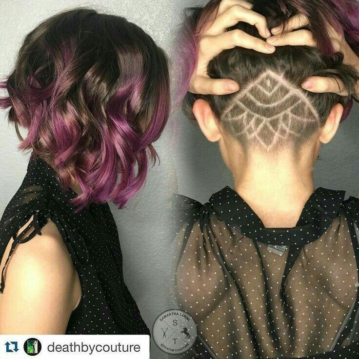 Short amazing hair with undercut