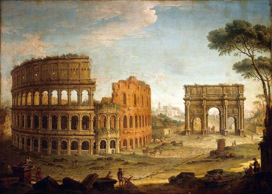 The Colosseum & the Arch of Constantine - Antonio Joli ...