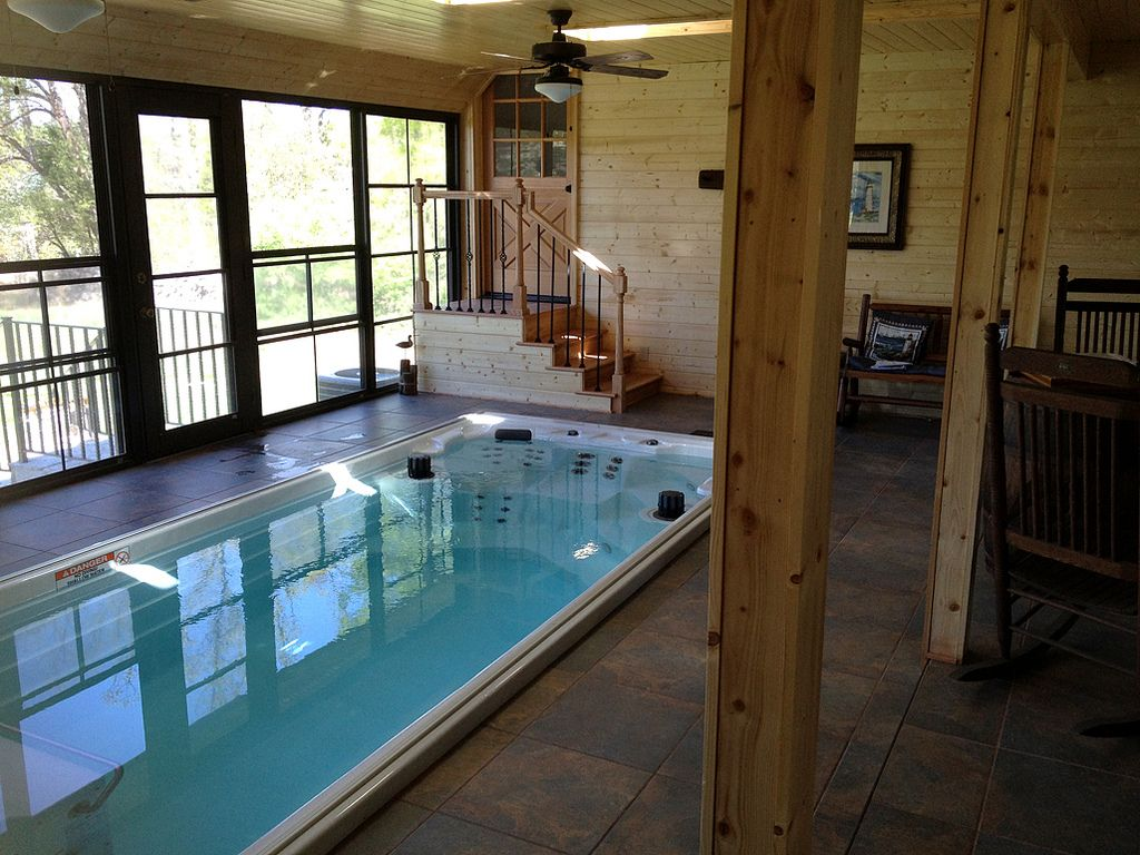 Swim at home year round with the new 17 39 endless pools for Swimming pool room ideas