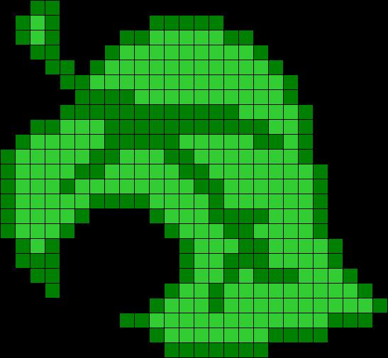 Animal Crossing Leaf Perler Bead Pattern Bead Sprite