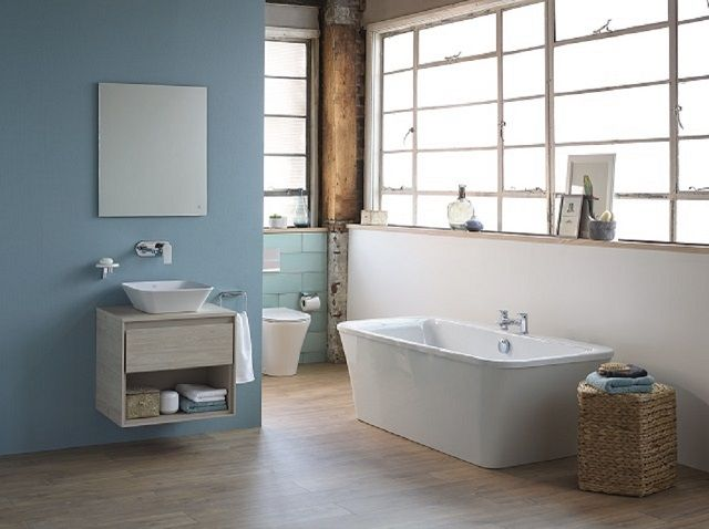Ideal Standard bathroom featuring bath, basin and toilet