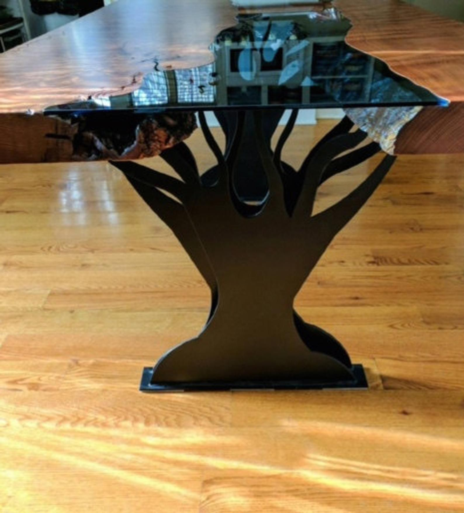 Metal Double Tree Dining Table Legs In 2020 Table Legs Dining