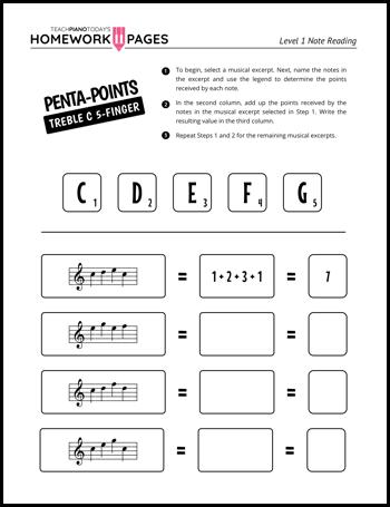 Piano homework beginners first grade homework activities