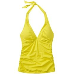 0cf8560372f3c #Athleta #Womens #Shirrendipity Halter Tankini #Size XL Tall - Aloha yellow  This favorite style has a solid strategy for matching back to our prints or  ...