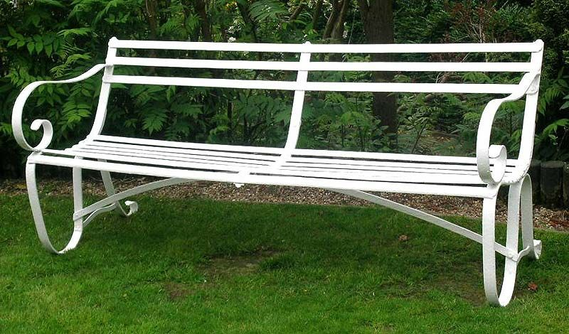 Charmant Antique Benches | Victorian Wrought Iron Garden Bench