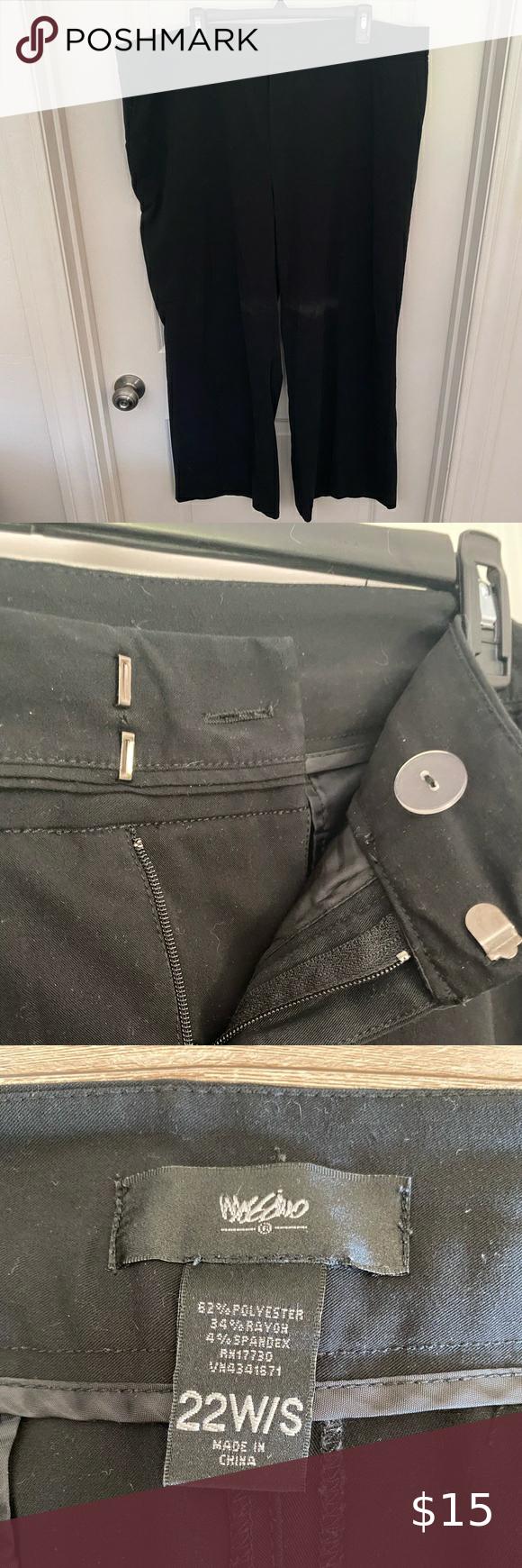Short Black Dress Pants Mossimo Size 22w Short Black Dress Pants Purchased From Target Short Length I Black Dress Pants Black Short Dress Jumpsuit Trousers [ 1740 x 580 Pixel ]