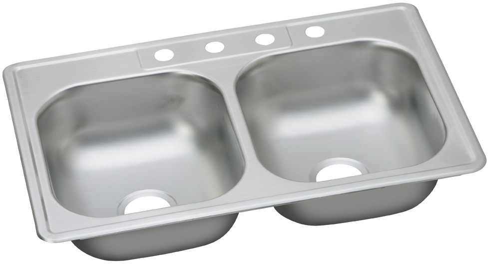 Elkay Dayton Collection Dg233222 Sink Stainless Steel Sinks Double Bowl Sink