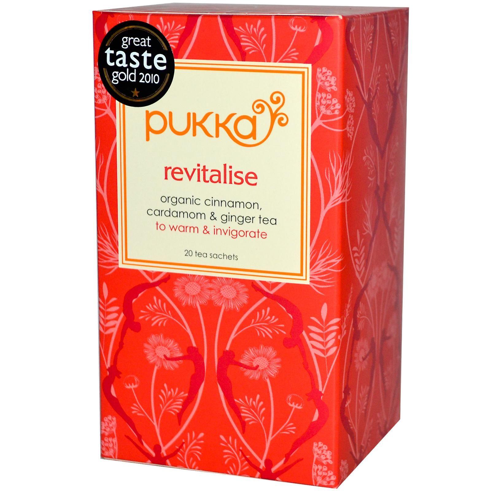 Pukka Herbs Revitalise Organic Cinnamon Cardamom Ginger Tea 20 Tea Sachets 1 41 Oz 40 G Iherb Com