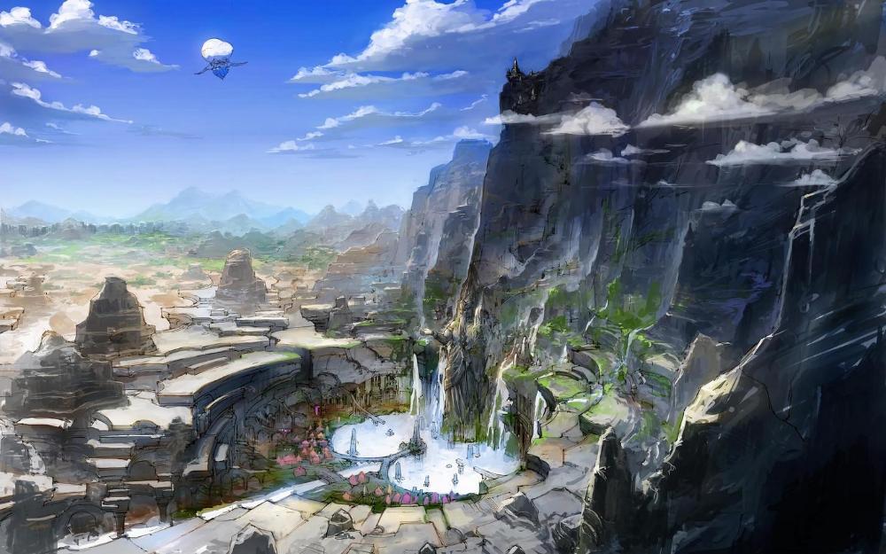 Ffxiv 4k Wallpaper Album Fantasy Landscape Final Fantasy Xiv Fantasy Setting