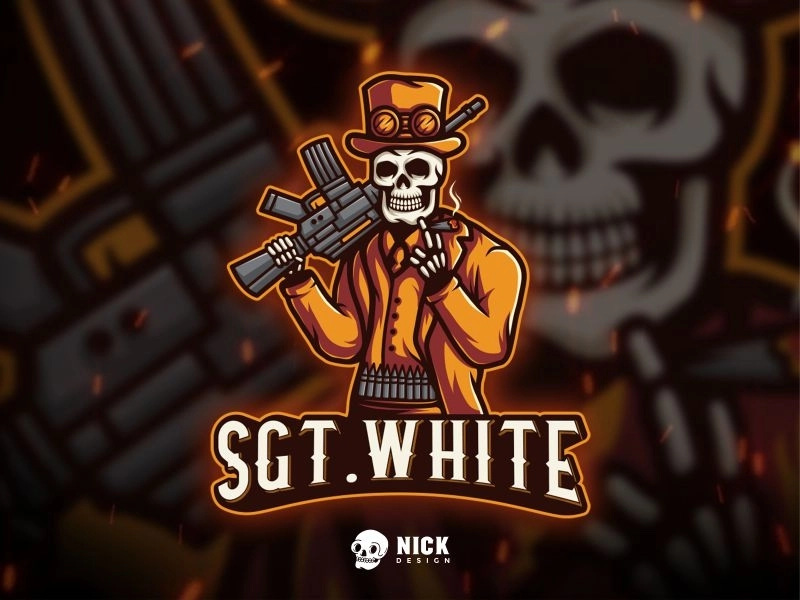SGT WHITE Esport Logo di 2020 (Dengan gambar) Logo keren