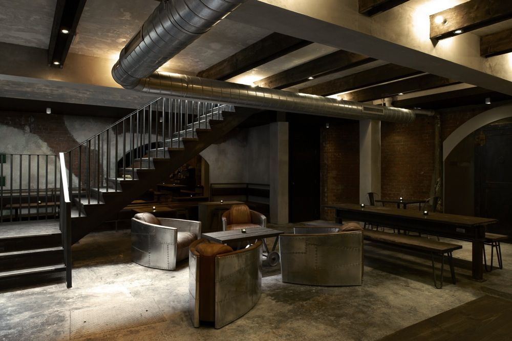 industrial modern basement Google Search basement