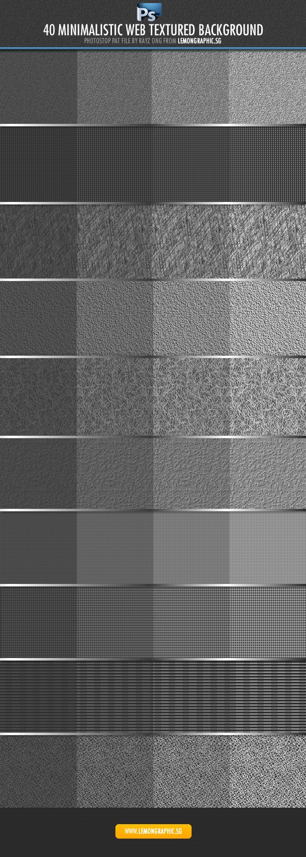 http://www.webdesignerdepot.com/2012/05/free-download-40-exclusive-photoshop-patterns/