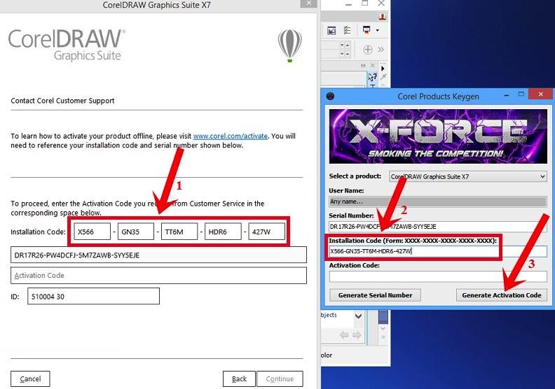 activation code for corel draw x5