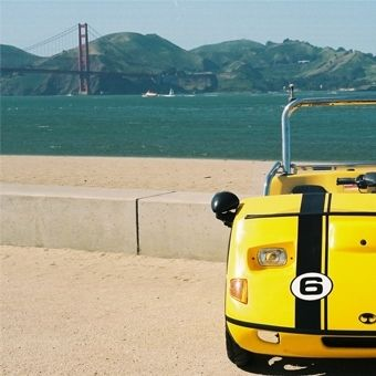 San Francisco GoCar Tour | GoCar Rental in San Francisco - I'm not going to lie: GoCars in San Francisco are FUN! It's like driving a bumper car roadster along a freestyle rollercoaster track! Seats two, and helmets are required+provided.
