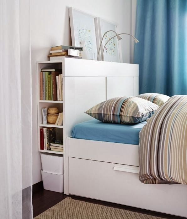 Maximize Your E With The Brimnes Storage Headboard And Under Bed Drawers Love This