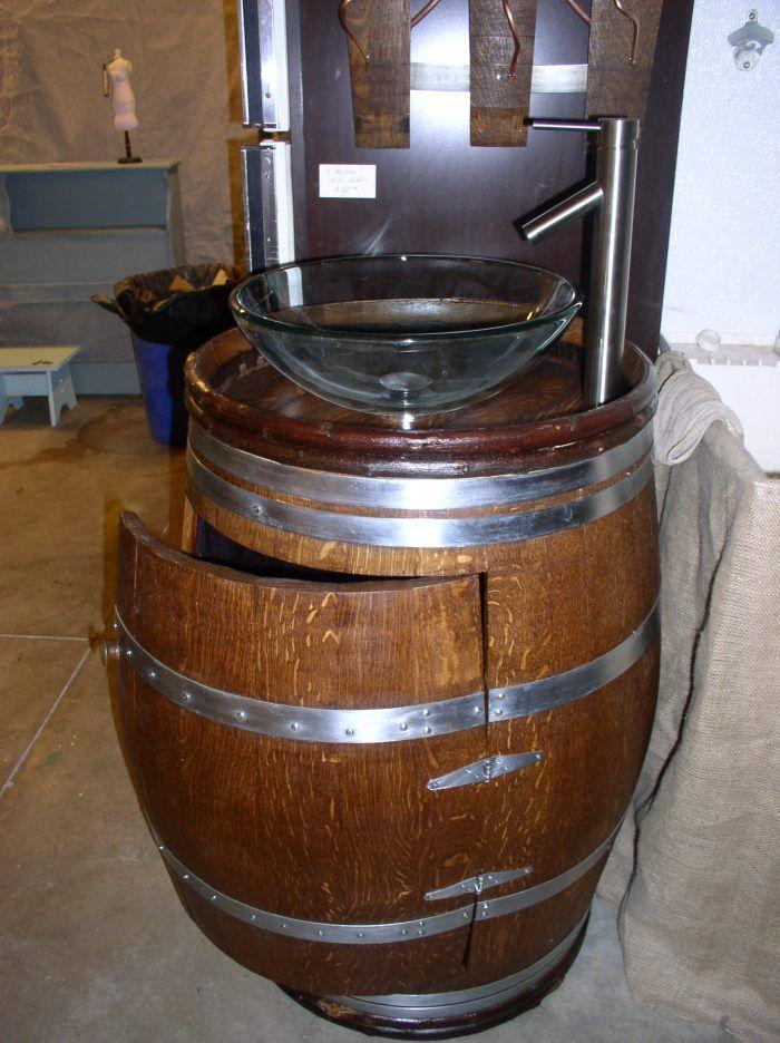 To Da Loos Wine Barrel Sink Vanities Turning Wine Into Water - Wine barrel bathroom vanity for bathroom decor ideas