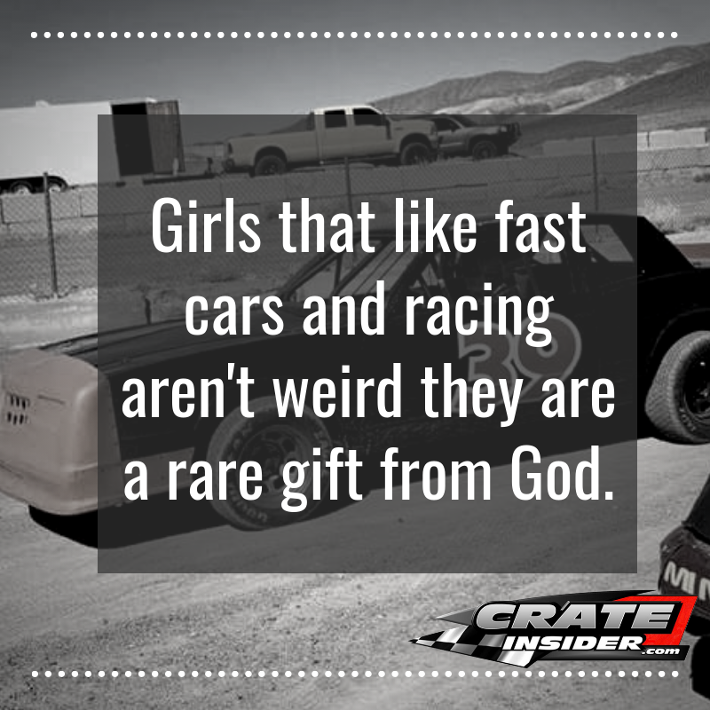 RACING QUOTES: Girls That Like Fast Cars And Racing Aren't