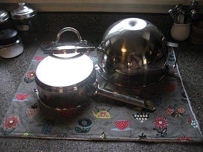 Pie Birds Buttons And Muddy Puddles Dish Mat Diy Dish Dish Drying Mat Kitchen Crafts