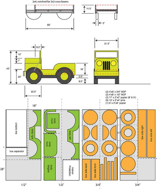 Plans 1 Of 2 Love Having A Boy Pinterest Jeep Bed Bed Plans