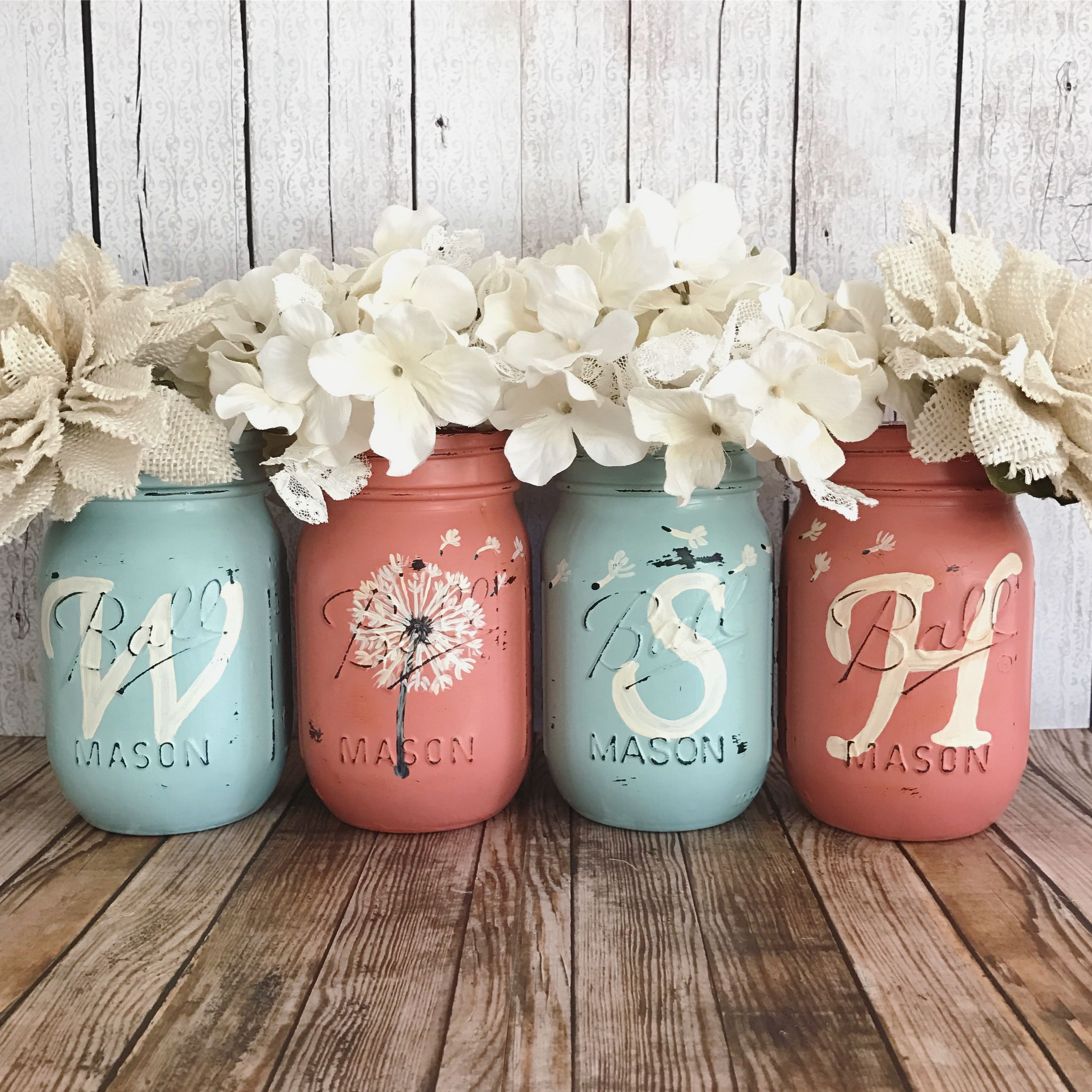 Dandelion WISH Mason Jar Set