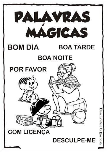Cartazes De Rotina Para Colorir Turma Da Monica Ideia Criativa Gi Barbosa Educac Atividades De Boas Maneiras Poesia Para Educacao Infantil Palavras Magicas
