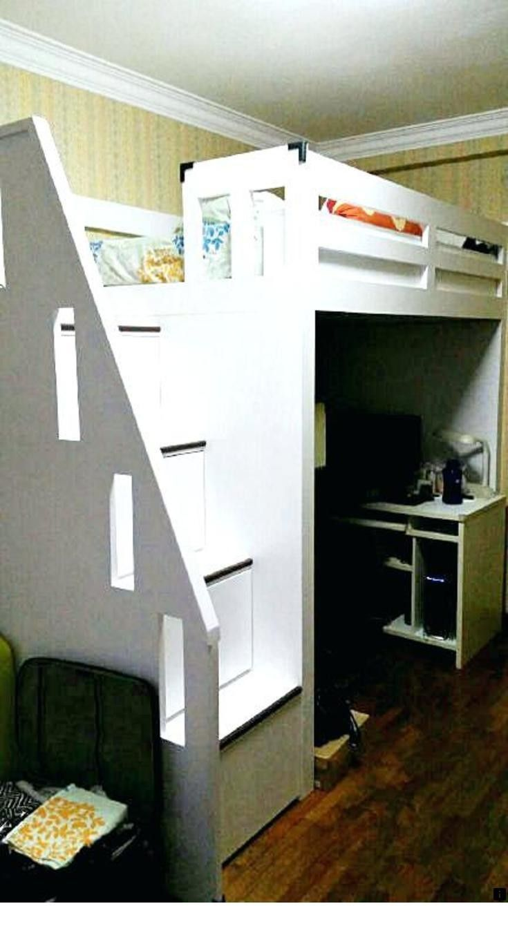 Double loft bed with stairs  Click the link to learn more bunk bed design for small spaces