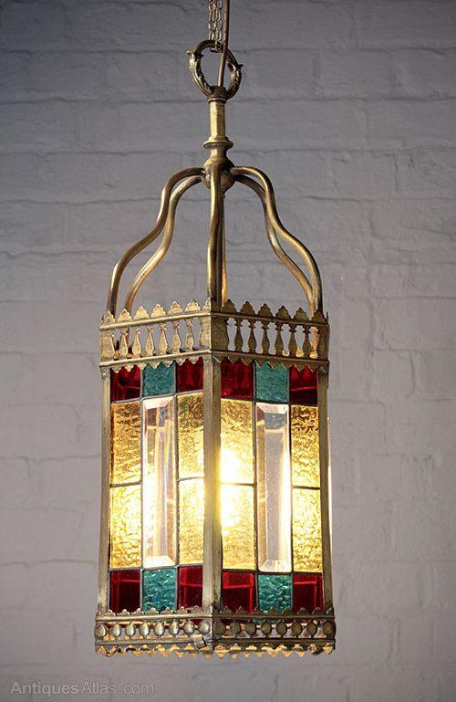 Victorian Coloured Gl Porch Light