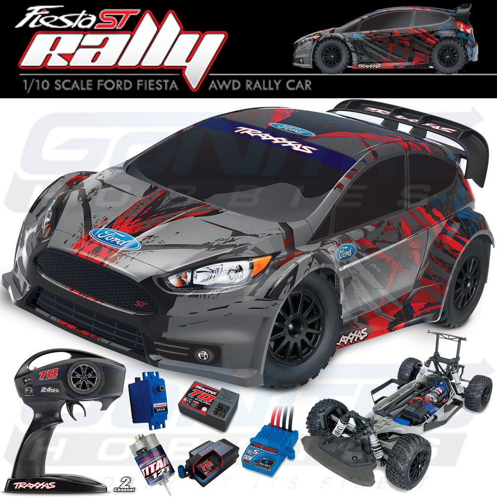 Traxxas 74054 4 1 10 Ford Fiesta St Rally Electric Racer 4wd Rtr W Tq Radio Traxxas Ford Fiesta St Ford Fiesta